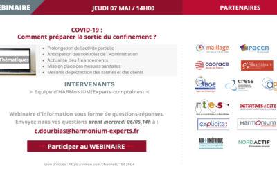 Nouveau Webinaire Info COVID-19 par Harmonium